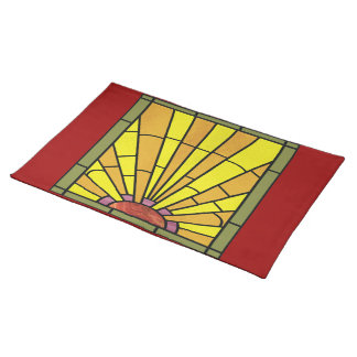 Art Deco Stained Glass 3 Placemats