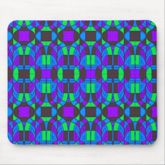 Art Deco Stained Glass Motif Mouse Pad
