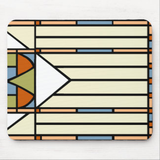 Art Deco Stained Glass Mouse Pad