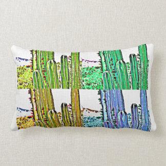 Art Deco Stove Pipe Cactus Lumbar Pillow