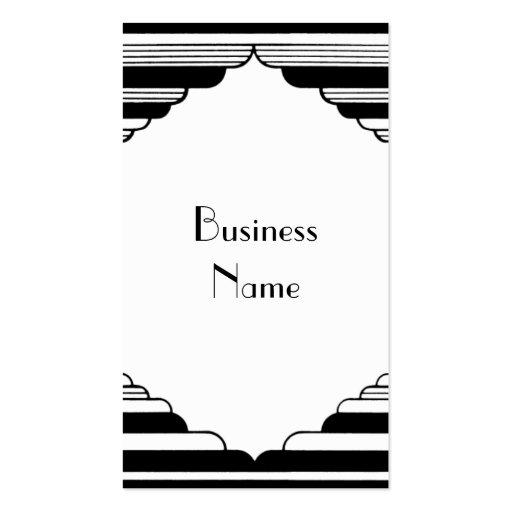 Art Deco Stripes Business Card