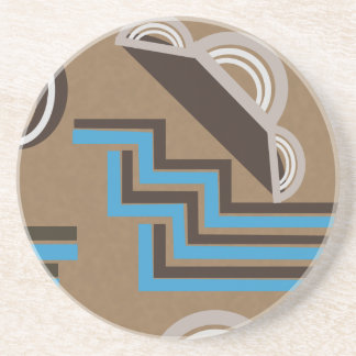 Art Deco style Abstract design Beverage Coasters