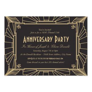 Art Deco Style Anniversary Invitation