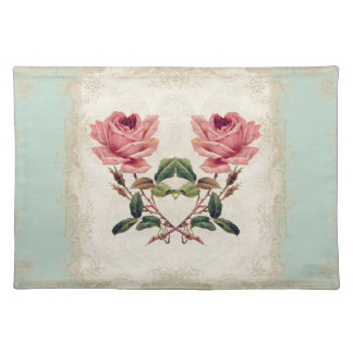 Art Deco Style Baroque Mint n Cream Vintage Lace Placemat