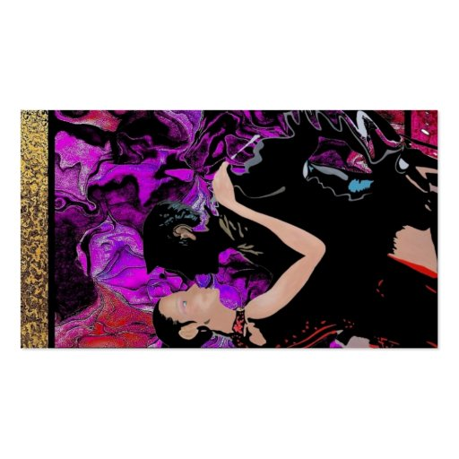 Art Deco style dancers Business Card Template