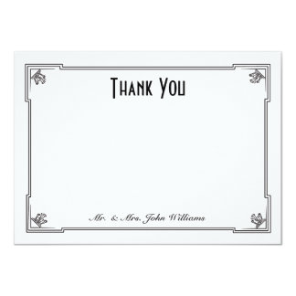 Art Deco Style Flat Thank You Note Card 11 Cm X 16 Cm Invitation Card