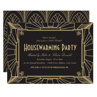 Art Deco Style Housewarming Party Invitation