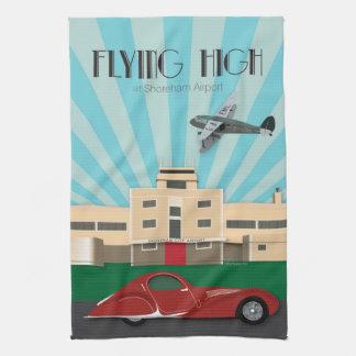 Art Deco style kitchen towel - Shoreham Airport