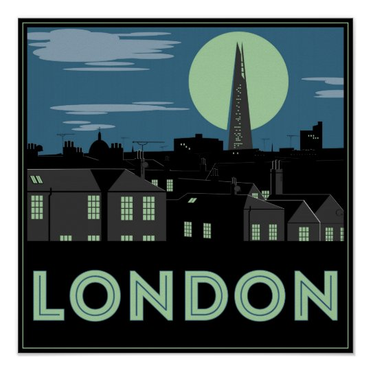 Art Deco Style London Poster