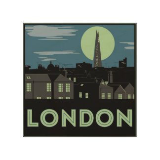Art Deco Style London Wood Print