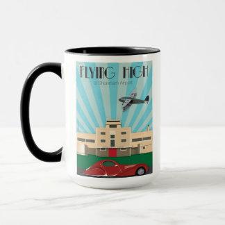 Art Deco style mug featuring Shoreham Airport