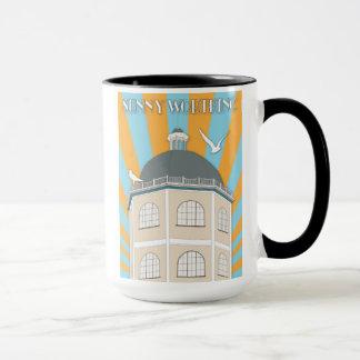 Art Deco style mug featuring Worthing Dome