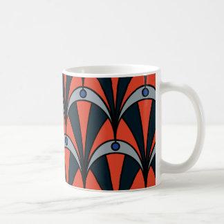 Art deco style pattern basic white mug
