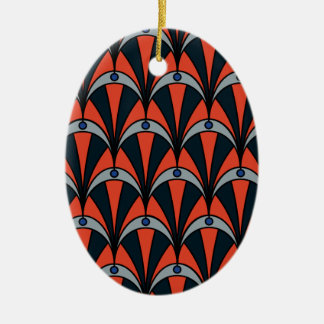 Art deco style pattern christmas ornament