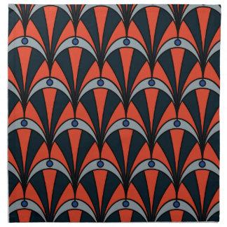 Art deco style pattern napkins