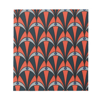 Art deco style pattern notepad