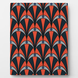 Art deco style pattern plaques