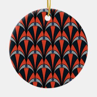 Art deco style pattern round ceramic decoration