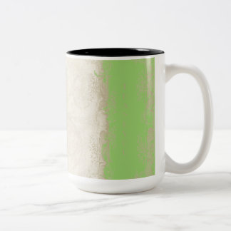 Art Deco Style Peacock Lime Green Vintage Lace Coffee Mugs