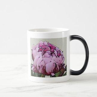 Art Deco Style Peony Flower Magic Mug