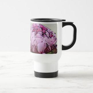 Art Deco Style Peony Travel Mug