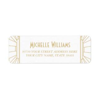 Art Deco Style Return Address Labels