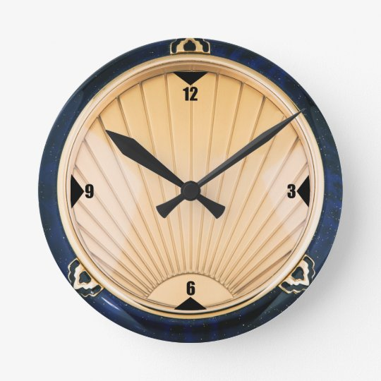 Art Deco Style Wall Clock Zazzle Co Uk