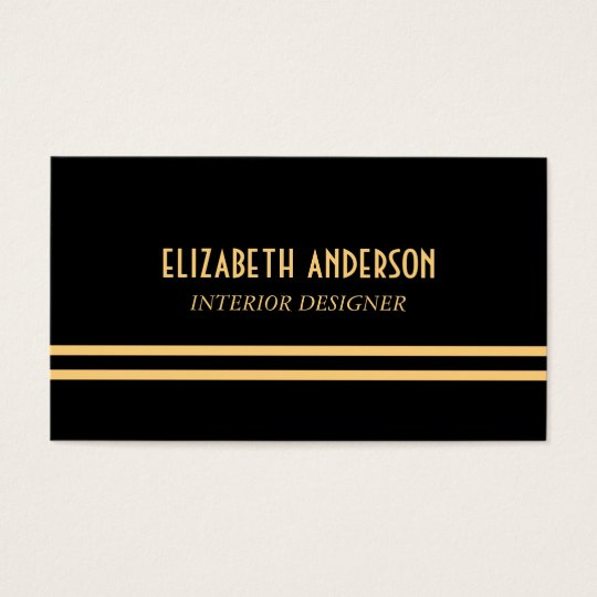 Art Deco Stylish Lines - Gold & Black