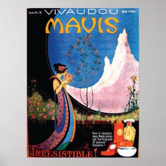 Art Deco Summer Blossoms for Mavis 1920s Poster