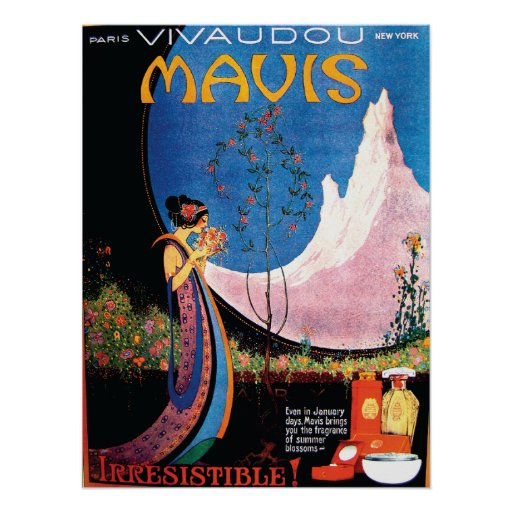 Art Deco Summer Blossoms for Mavis 1920s Poster