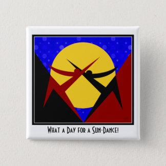 Art Deco Sun-Dance 15 Cm Square Badge