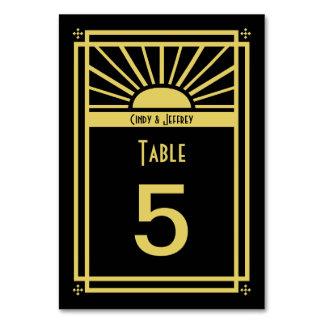 Art Deco Sunburst Table Numbers Cards