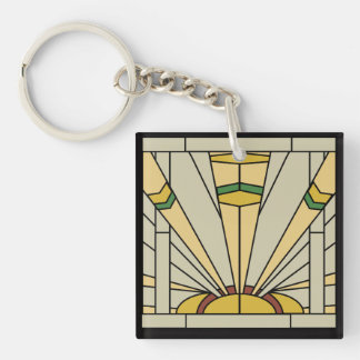 Art Deco Sunshine Key Ring