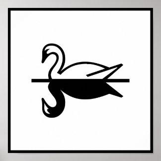 Art Deco Swan Posters