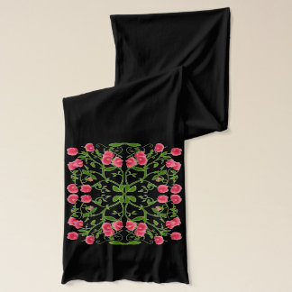 Art Deco Sweet Pea Floral Scarf