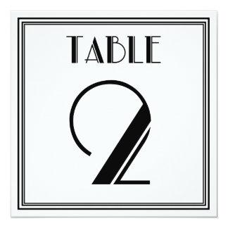 Art Deco Table Number 2 13 Cm X 13 Cm Square Invitation Card