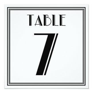 Art Deco Table Number 7 13 Cm X 13 Cm Square Invitation Card