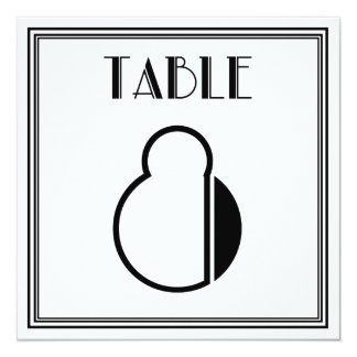 Art Deco Table Number 8 13 Cm X 13 Cm Square Invitation Card