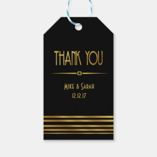 Art deco thank you favour or Gift Tag