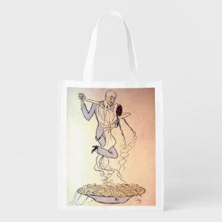 Art Deco The Aroma of Tango Reusable Grocery Bag