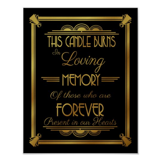 ART DECo, THIS Candles burns in loving memory
