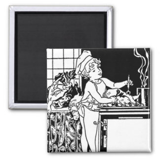 Art Deco Tile For Kitchen Refrigerator Magnet