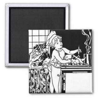 Art Deco Tile For Kitchen Square Magnet