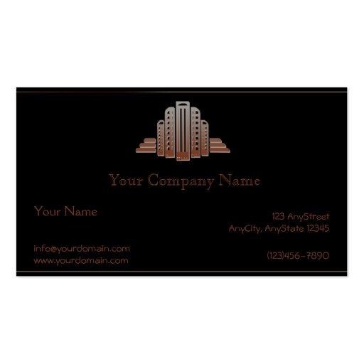 Art Deco Tower Business Card
