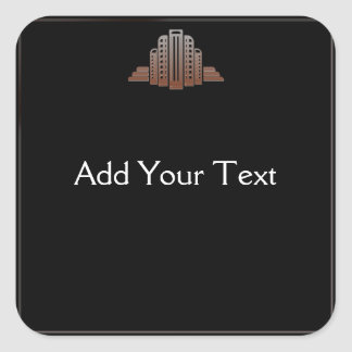 Art Deco Tower Square Sticker