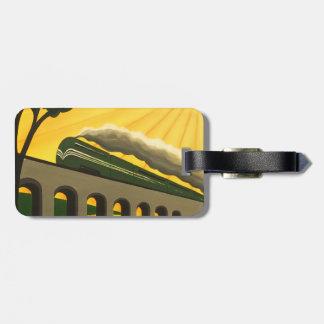 Art Deco train Luggage tag