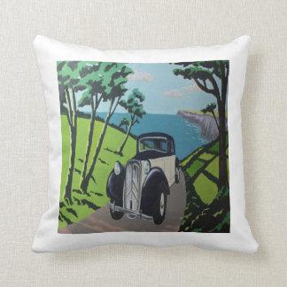 Art deco Travel inspired Cushion