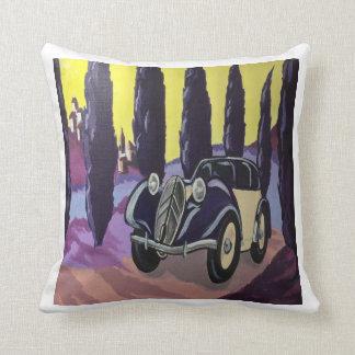 Art Deco Travels Throw Pillow