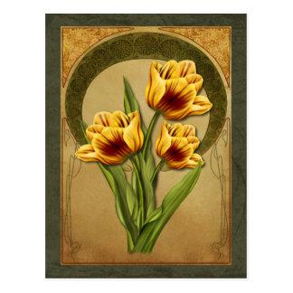 Art Deco Tulips Post Card