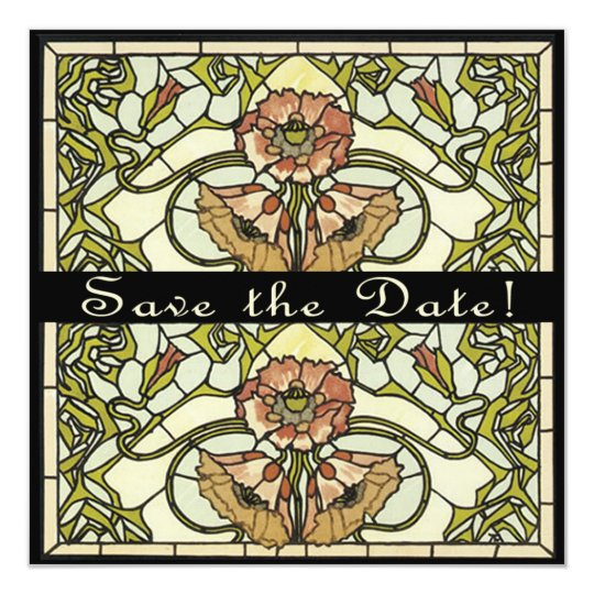 Art Deco Two Sided Customisable Save the Date